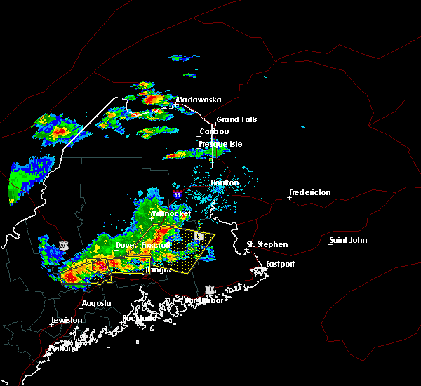 Radar Image for Severe Thunderstorms near Milo, ME at 7/18/2016 3:08 PM EDT