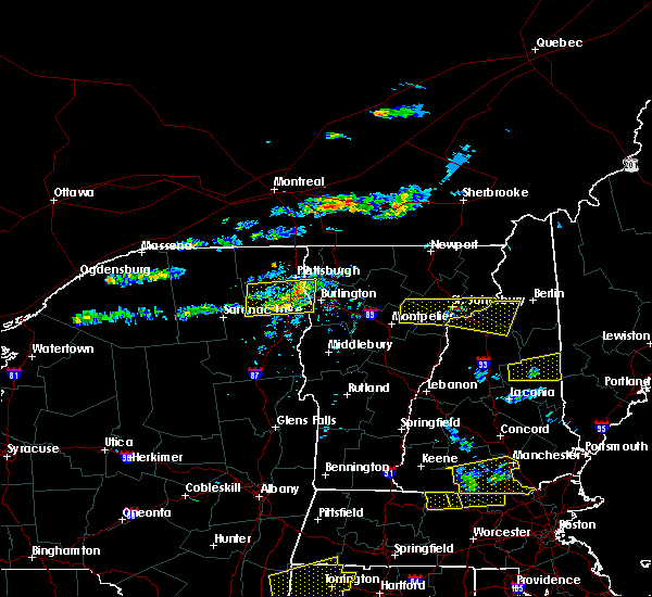 Radar Image for Severe Thunderstorms near Berlin, NH at 7/18/2016 3:08 PM EDT