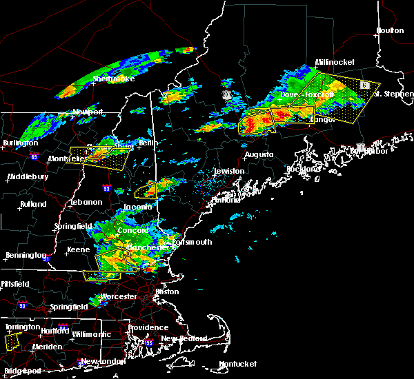 Radar Image for Severe Thunderstorms near Hartland, ME at 7/18/2016 3:21 PM EDT
