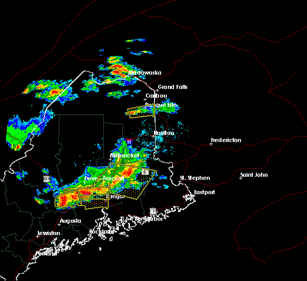 Radar Image for Severe Thunderstorms near Presque Isle, ME at 7/18/2016 3:24 PM EDT