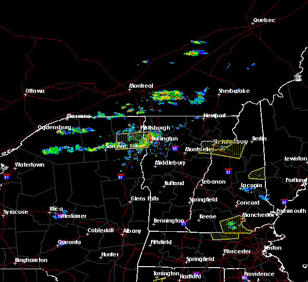 Radar Image for Severe Thunderstorms near Berlin, NH at 7/18/2016 3:24 PM EDT
