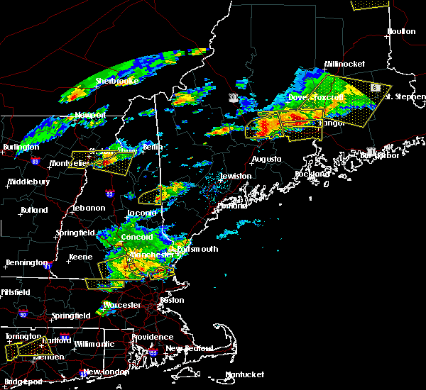 Radar Image for Severe Thunderstorms near Newport, ME at 7/18/2016 3:27 PM EDT