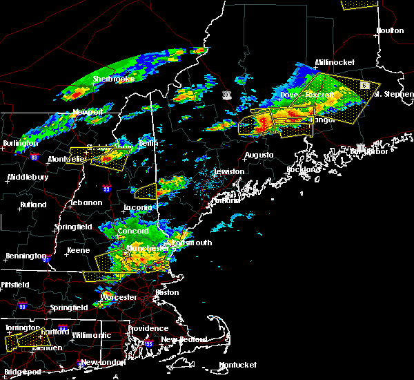 Radar Image for Severe Thunderstorms near Hartland, ME at 7/18/2016 3:36 PM EDT