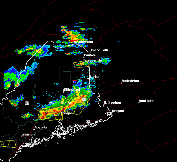 Radar Image for Severe Thunderstorms near Milford, ME at 7/18/2016 3:36 PM EDT