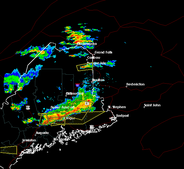 Radar Image for Severe Thunderstorms near Orono, ME at 7/18/2016 3:42 PM EDT