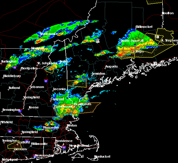Radar Image for Severe Thunderstorms near Newport, ME at 7/18/2016 3:51 PM EDT