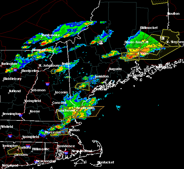 Radar Image for Severe Thunderstorms near Newmarket, NH at 7/18/2016 4:01 PM EDT