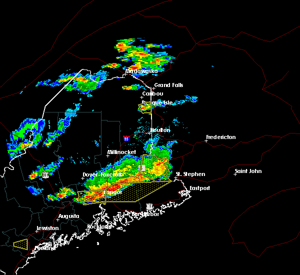 Radar Image for Severe Thunderstorms near Presque Isle, ME at 7/18/2016 4:04 PM EDT