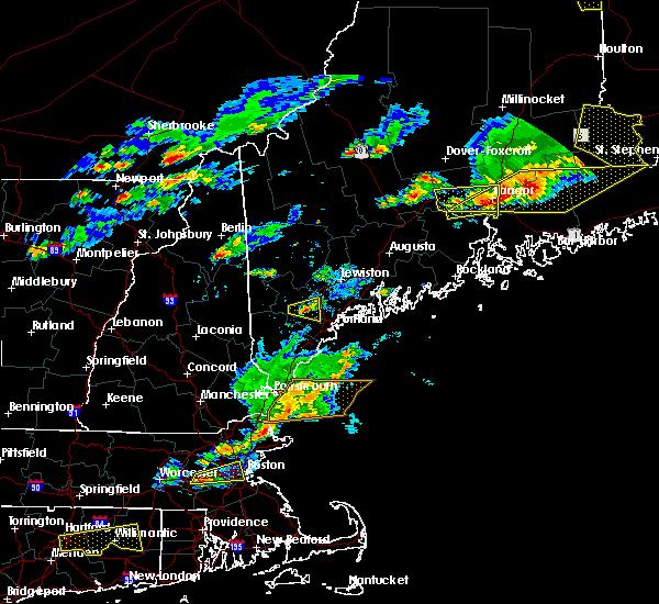 Radar Image for Severe Thunderstorms near Little Falls, ME at 7/18/2016 4:14 PM EDT