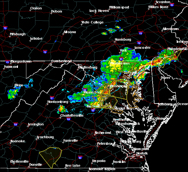 Radar Image for Severe Thunderstorms near Orange, VA at 7/18/2016 4:33 PM EDT