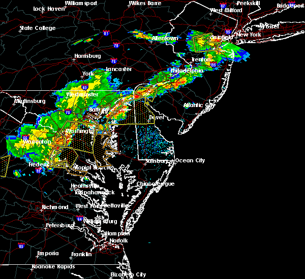Radar Image for Severe Thunderstorms near Dover, DE at 7/18/2016 4:42 PM EDT