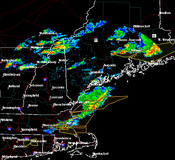 Radar Image for Severe Thunderstorms near Orono, ME at 7/18/2016 4:42 PM EDT