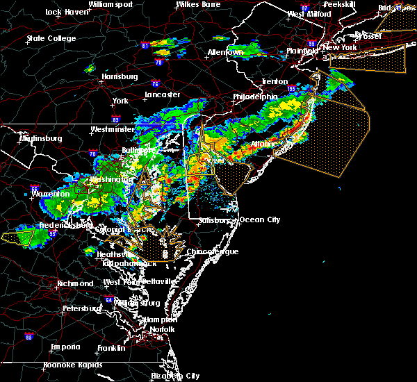 Radar Image for Severe Thunderstorms near Dover, DE at 7/18/2016 5:47 PM EDT