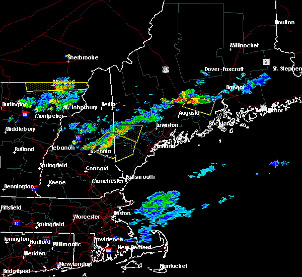 Radar Image for Severe Thunderstorms near Steep Falls, ME at 7/18/2016 8:03 PM EDT