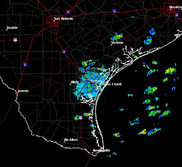 Radar Image for Severe Thunderstorms near Corpus Christi, TX at 7/19/2016 9:00 AM CDT