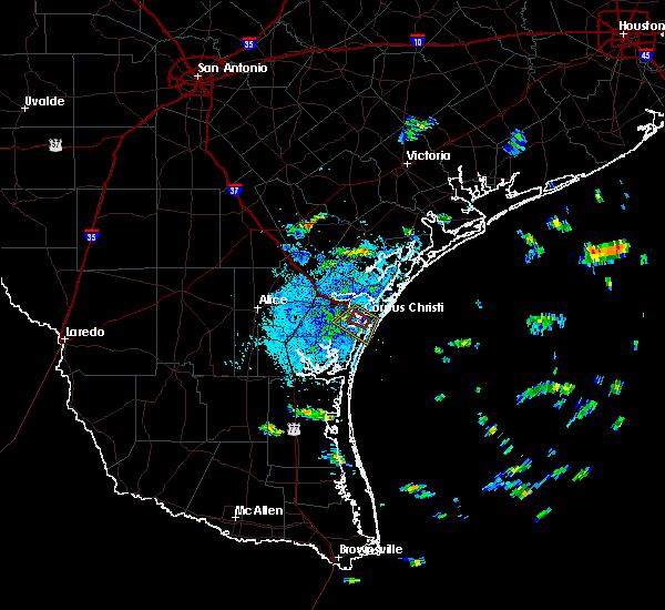 Radar Image for Severe Thunderstorms near Corpus Christi, TX at 7/19/2016 9:25 AM CDT