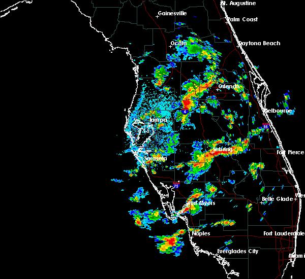 Radar Image for Severe Thunderstorms near Lakeland, FL at 7/19/2016 2:35 PM EDT