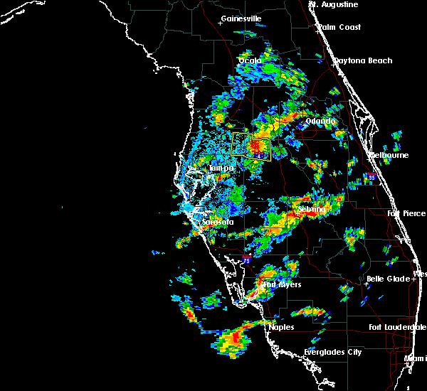 Radar Image for Severe Thunderstorms near Kathleen, FL at 7/19/2016 2:48 PM EDT
