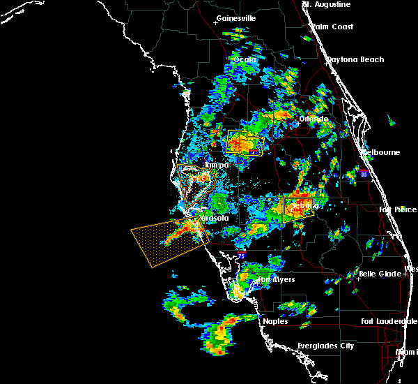 Radar Image for Severe Thunderstorms near Lutz, FL at 7/19/2016 3:03 PM EDT