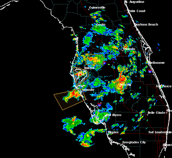 Radar Image for Severe Thunderstorms near Clearwater, FL at 7/19/2016 3:20 PM EDT