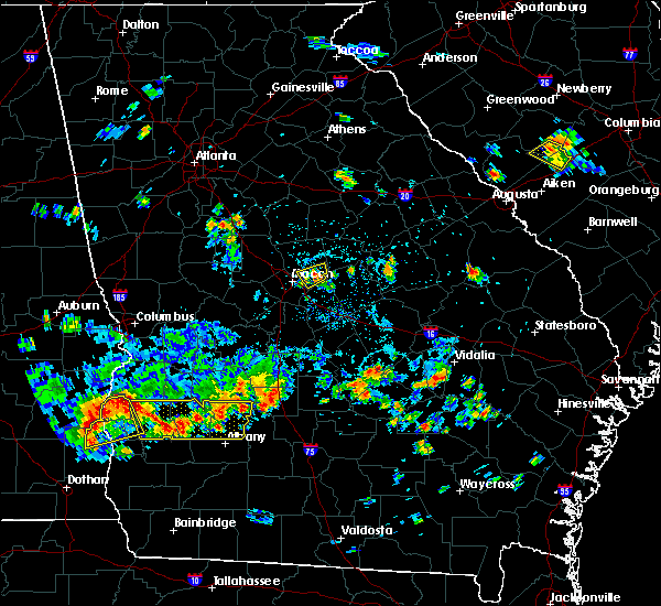 Radar Image for Severe Thunderstorms near Macon, GA at 7/19/2016 3:38 PM EDT