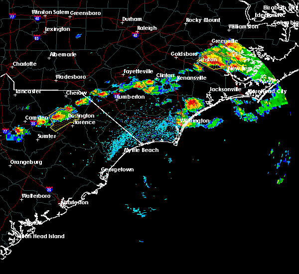 Radar Image for Severe Thunderstorms near Pembroke, NC at 7/19/2016 3:38 PM EDT