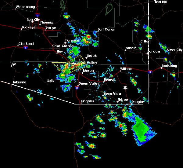 Radar Image for Severe Thunderstorms near Marana, AZ at 7/19/2016 4:16 PM MST