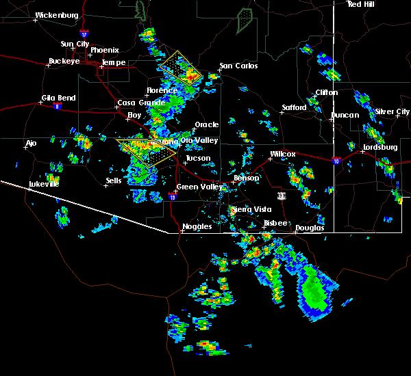 Radar Image for Severe Thunderstorms near Marana, AZ at 7/19/2016 4:44 PM MST