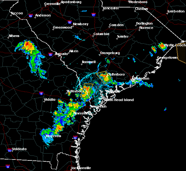 Radar Image for Severe Thunderstorms near Walterboro, SC at 7/19/2016 7:51 PM EDT