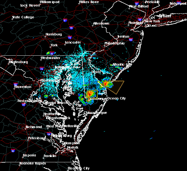 Radar Image for Severe Thunderstorms near Laurel, DE at 7/20/2016 2:35 AM EDT