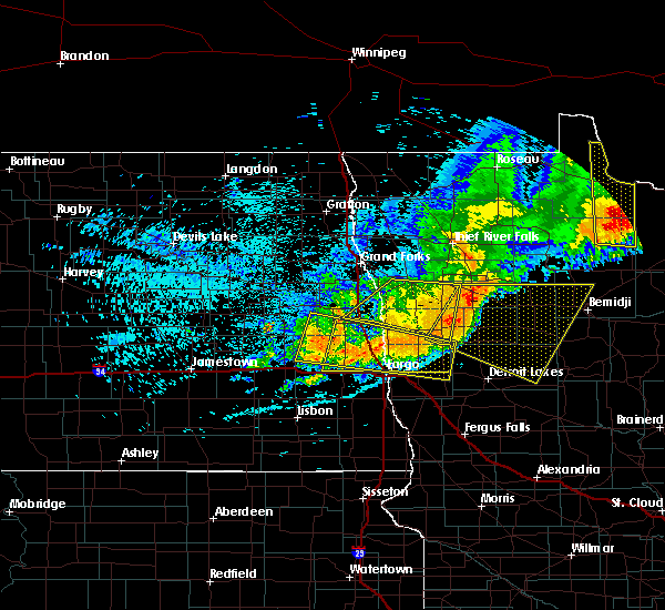 Radar Image for Severe Thunderstorms near Bemidji, MN at 7/21/2016 12:13 AM CDT