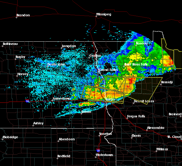 Radar Image for Severe Thunderstorms near Bemidji, MN at 7/21/2016 12:20 AM CDT