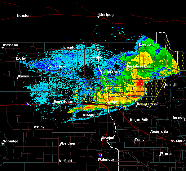Radar Image for Severe Thunderstorms near Glyndon, MN at 7/21/2016 12:32 AM CDT