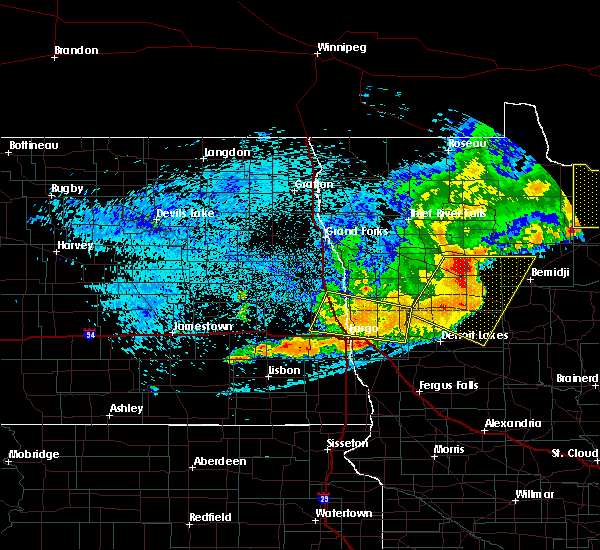 Radar Image for Severe Thunderstorms near Bemidji, MN at 7/21/2016 12:35 AM CDT