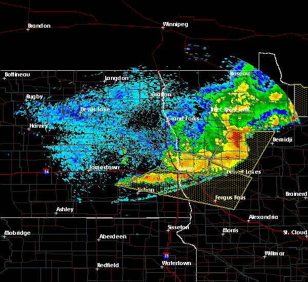Radar Image for Severe Thunderstorms near Glyndon, MN at 7/21/2016 12:41 AM CDT