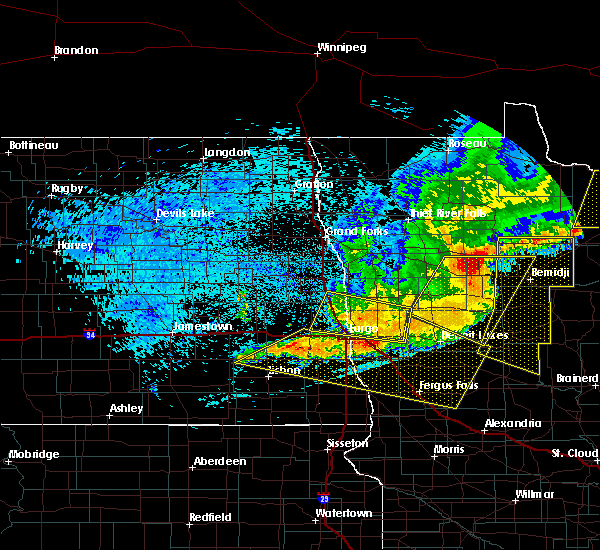 Radar Image for Severe Thunderstorms near Bemidji, MN at 7/21/2016 12:47 AM CDT