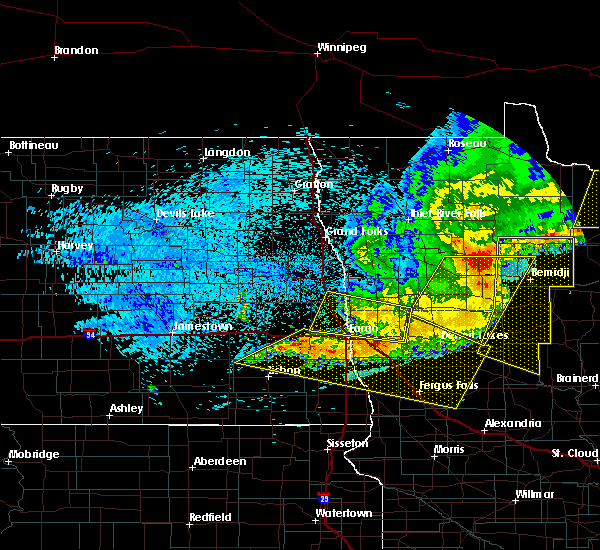 Radar Image for Severe Thunderstorms near Glyndon, MN at 7/21/2016 12:56 AM CDT