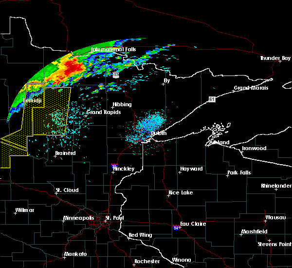 Radar Image for Severe Thunderstorms near Bemidji, MN at 7/21/2016 1:33 AM CDT