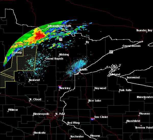 Radar Image for Severe Thunderstorms near Pequot Lakes, MN at 7/21/2016 1:39 AM CDT