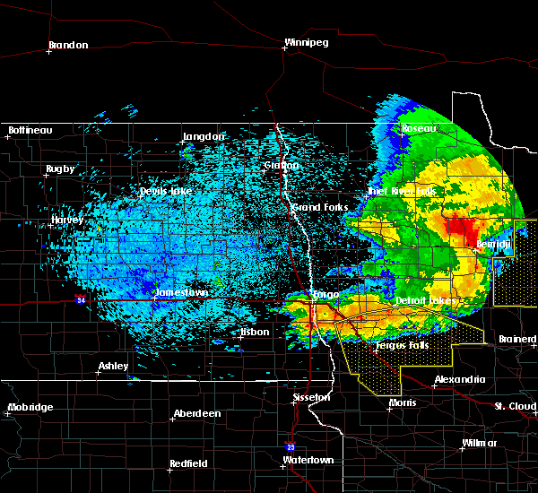 Radar Image for Severe Thunderstorms near Perham, MN at 7/21/2016 1:54 AM CDT