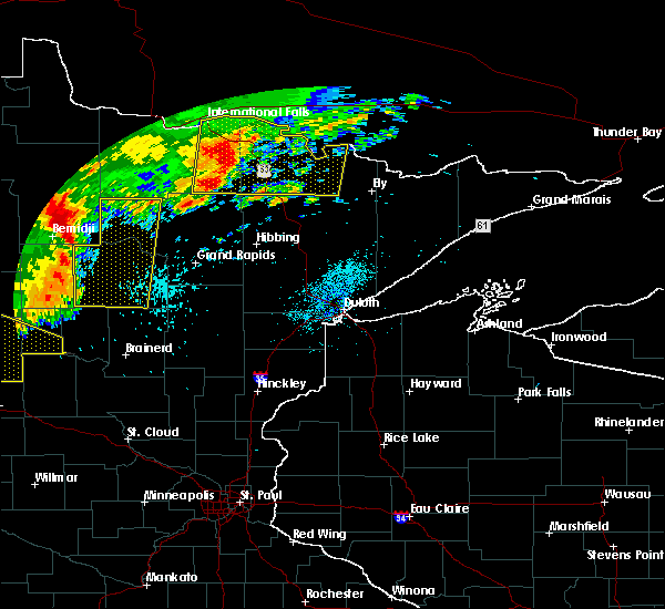 Radar Image for Severe Thunderstorms near Cohasset, MN at 7/21/2016 2:04 AM CDT