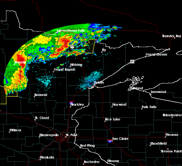 Radar Image for Severe Thunderstorms near Pequot Lakes, MN at 7/21/2016 2:09 AM CDT