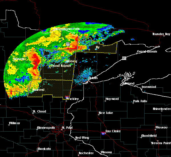 Radar Image for Severe Thunderstorms near Cohasset, MN at 7/21/2016 2:43 AM CDT