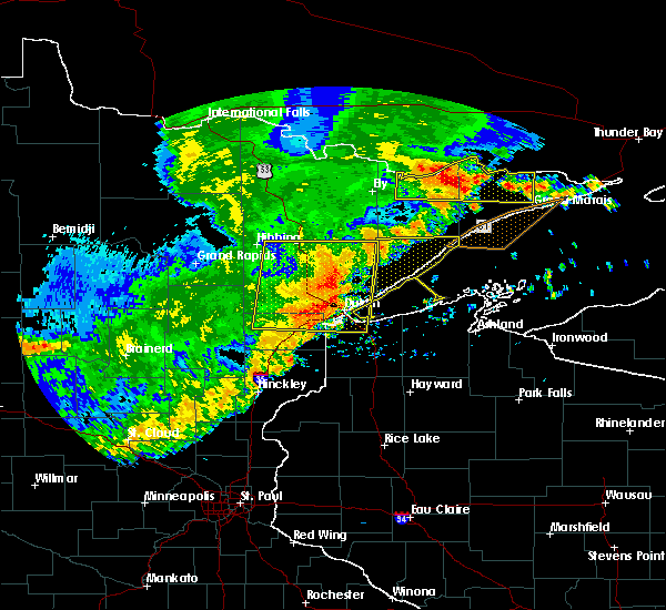 Radar Image for Severe Thunderstorms near Duluth, MN at 7/21/2016 3:56 AM CDT