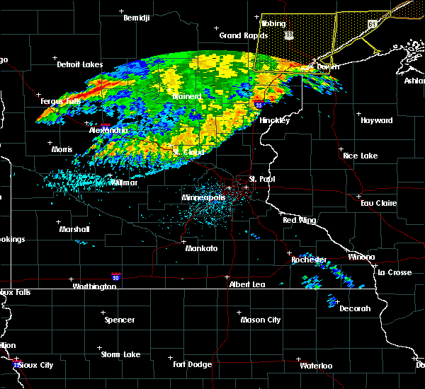 Radar Image for Severe Thunderstorms near Bertha, MN at 7/21/2016 4:32 AM CDT