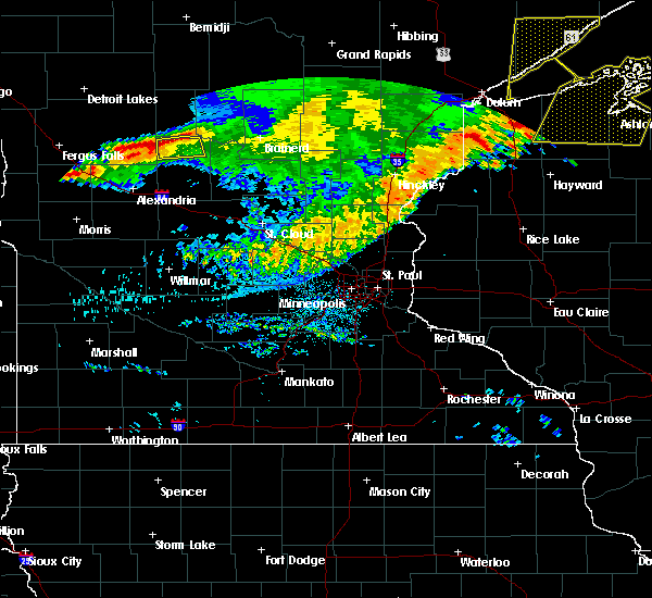Radar Image for Severe Thunderstorms near Carlos, MN at 7/21/2016 4:44 AM CDT