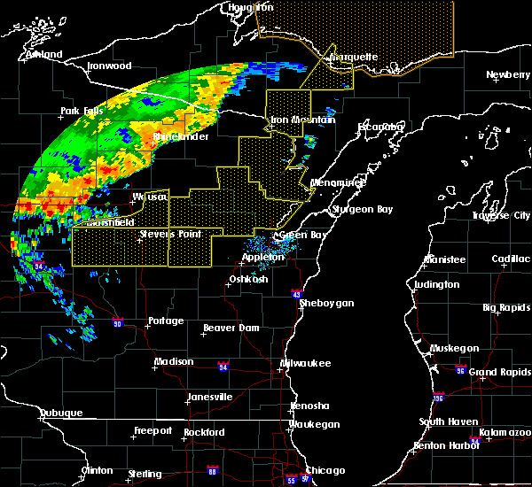 Radar Image for Severe Thunderstorms near Mosinee, WI at 7/21/2016 7:27 AM CDT