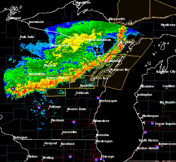 Radar Image for Severe Thunderstorms near Hancock, WI at 7/21/2016 8:04 AM CDT