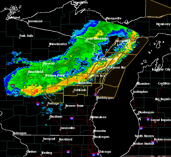 Radar Image for Severe Thunderstorms near Hancock, WI at 7/21/2016 8:36 AM CDT