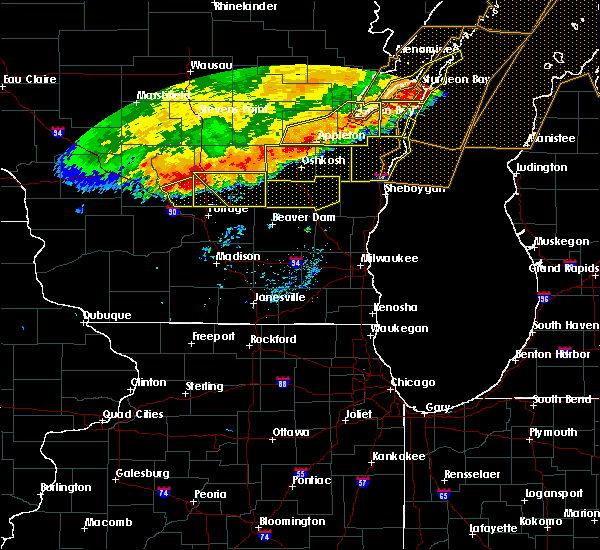 Radar Image for Severe Thunderstorms near Endeavor, WI at 7/21/2016 8:55 AM CDT
